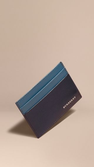 Two-tone London Leather Card Case