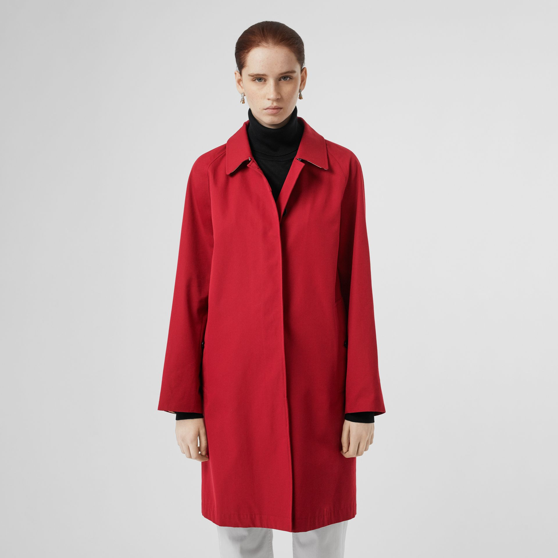 The Camden Car Coat in Parade Red - Women | Burberry - gallery image 7
