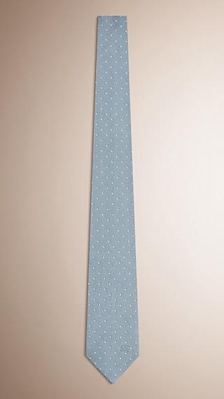Gravata de seda com corte moderno e estampa de poá