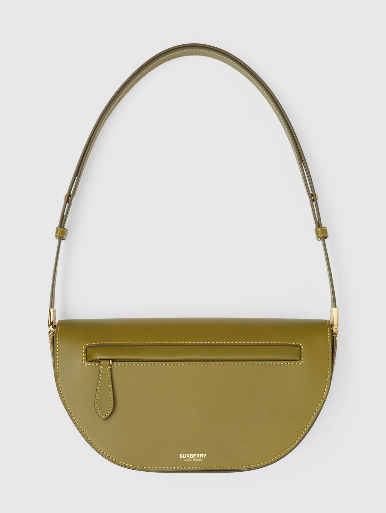 Small Leather Olympia Bag in Juniper Green