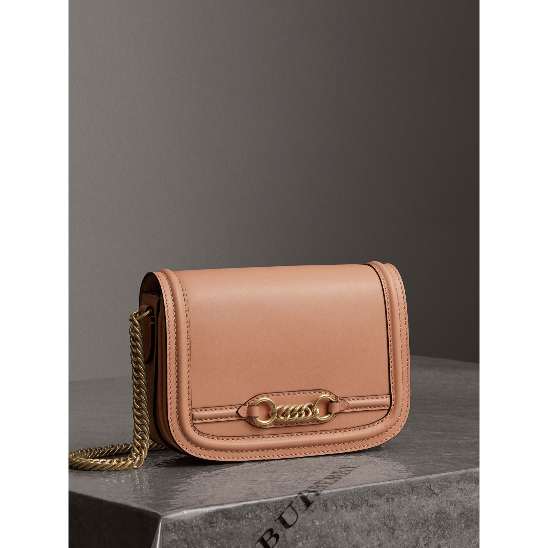 The Leather Link Bag in Peach - Women | Burberry Singapore - gallery image 6