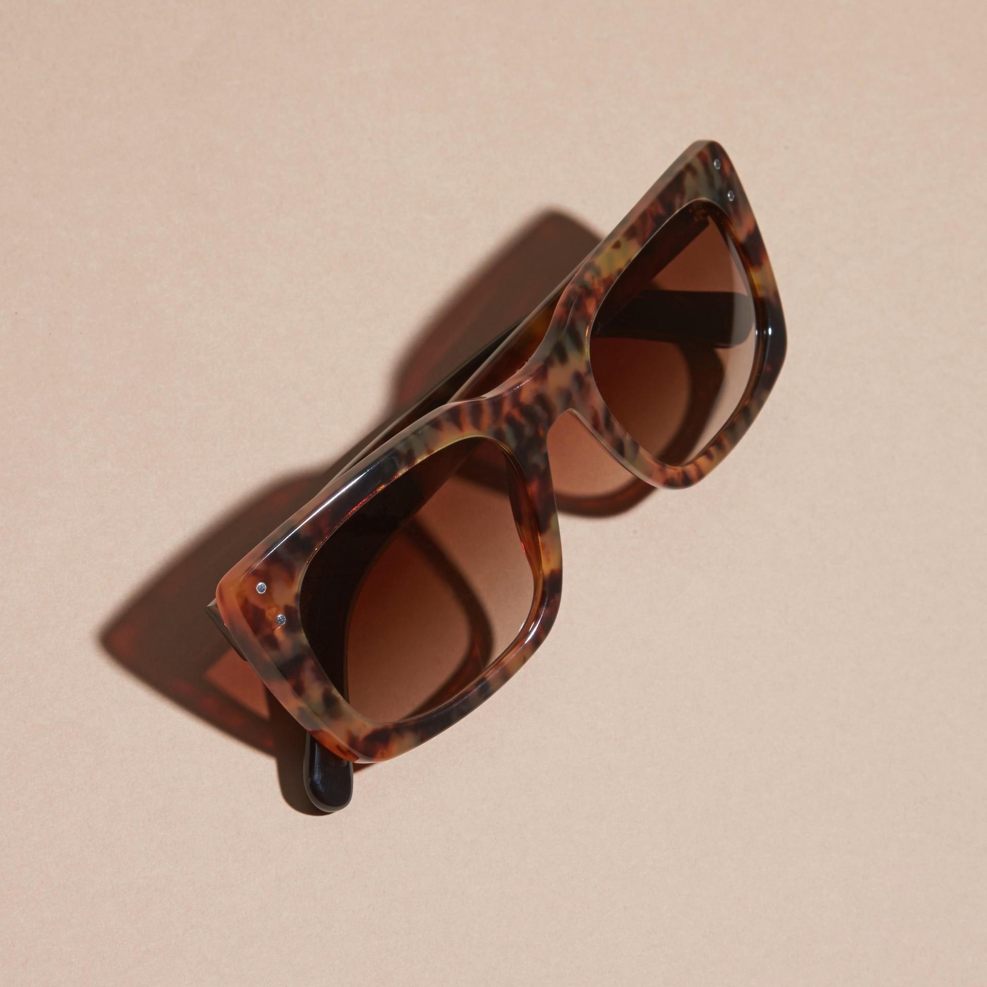 Tortoise shell Square Frame Sunglasses Tortoise Shell - gallery image 5