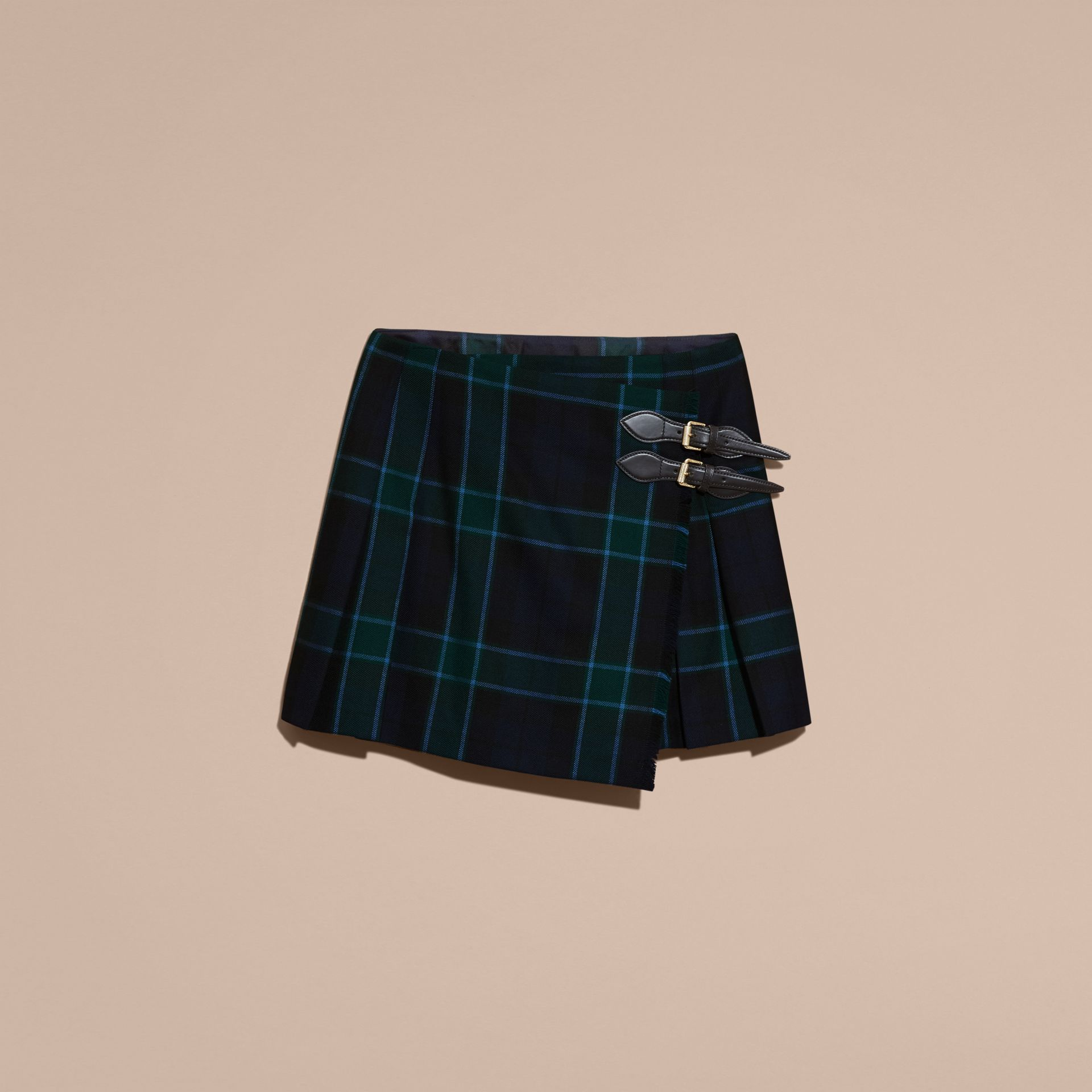 Bottle green Check Wool Kilt - gallery image 4