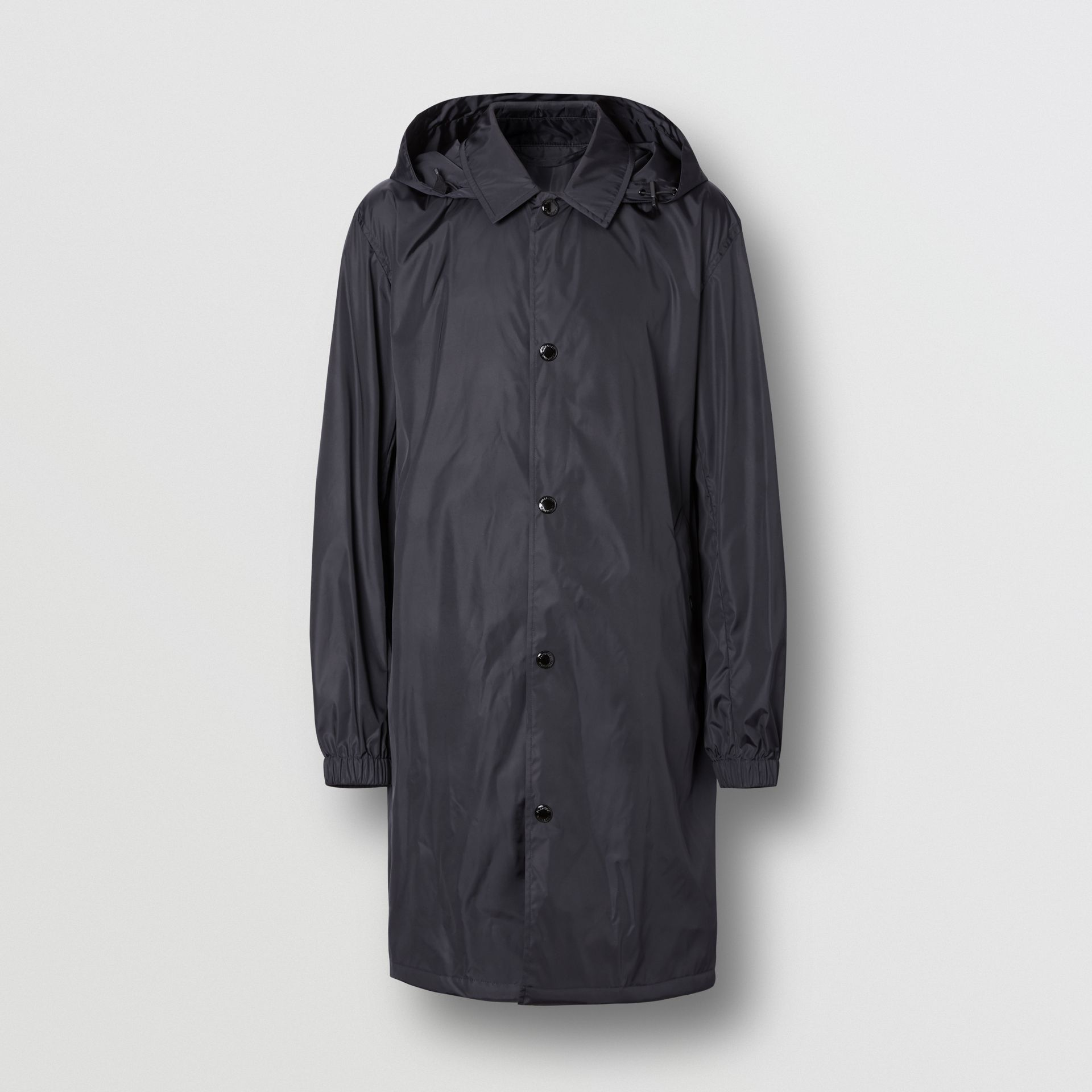 Detachable Hood Nylon Car Coat in Navy - Men | Burberry - gallery image 3