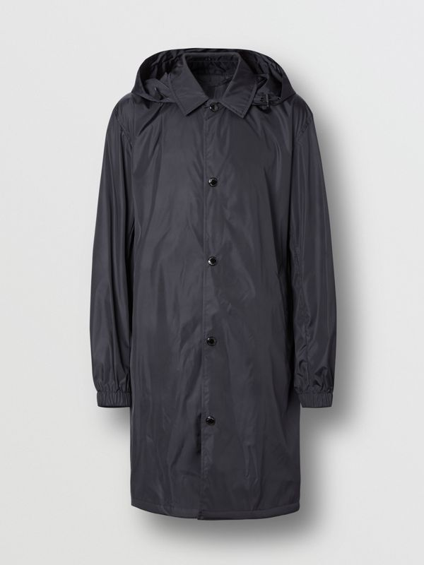 Detachable Hood Nylon Car Coat in Navy - Men | Burberry - cell image 3