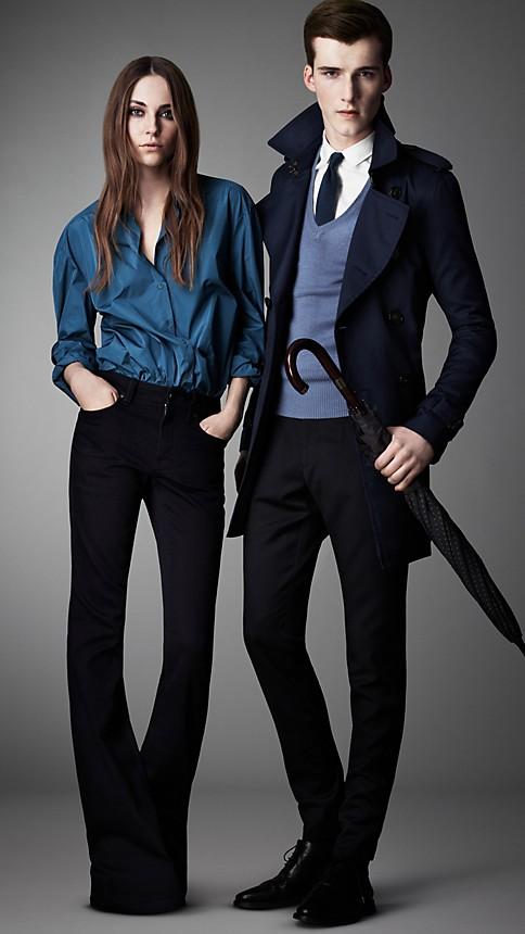 Blue Harwood Indigo Flared Jeans - Image 4