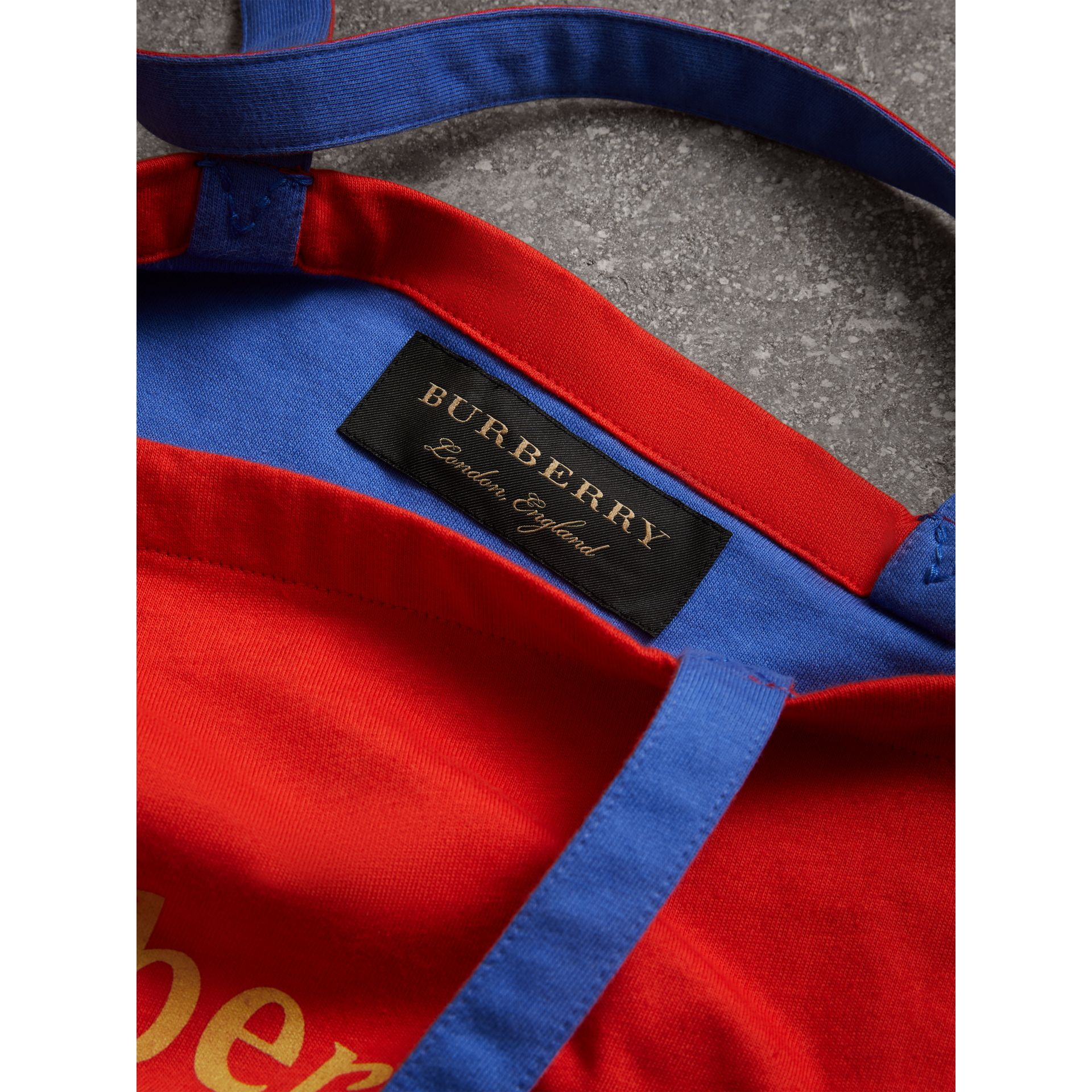 Large Archive Logo Jersey Shopper in Poppy Red | Burberry - gallery image 7