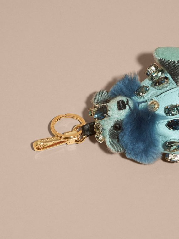 Thomas Bear Charm with Cape and Crystals in Light Mint - cell image 3