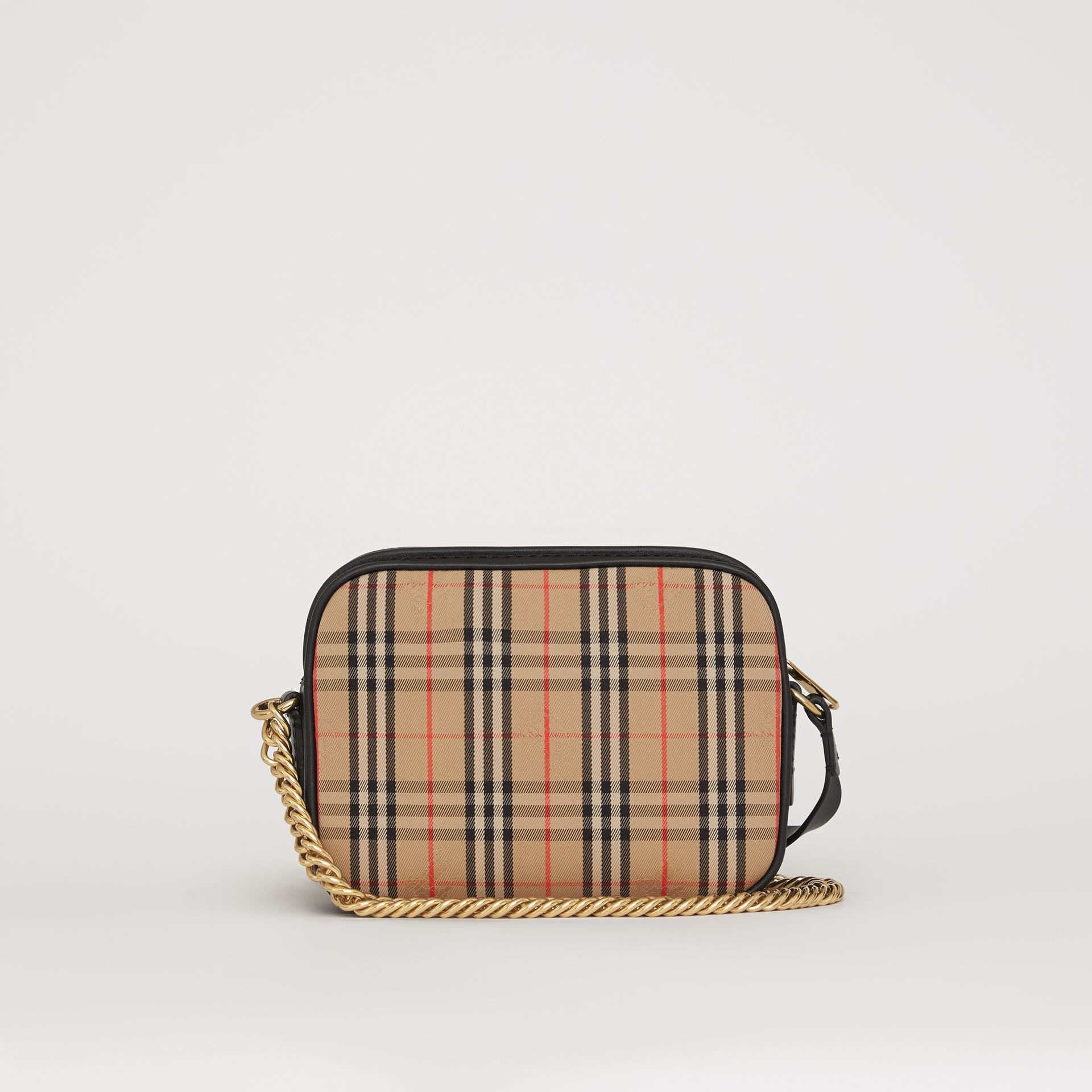 The 1983 Check Link Camera Bag in Black - Women | Burberry Australia - gallery image 8