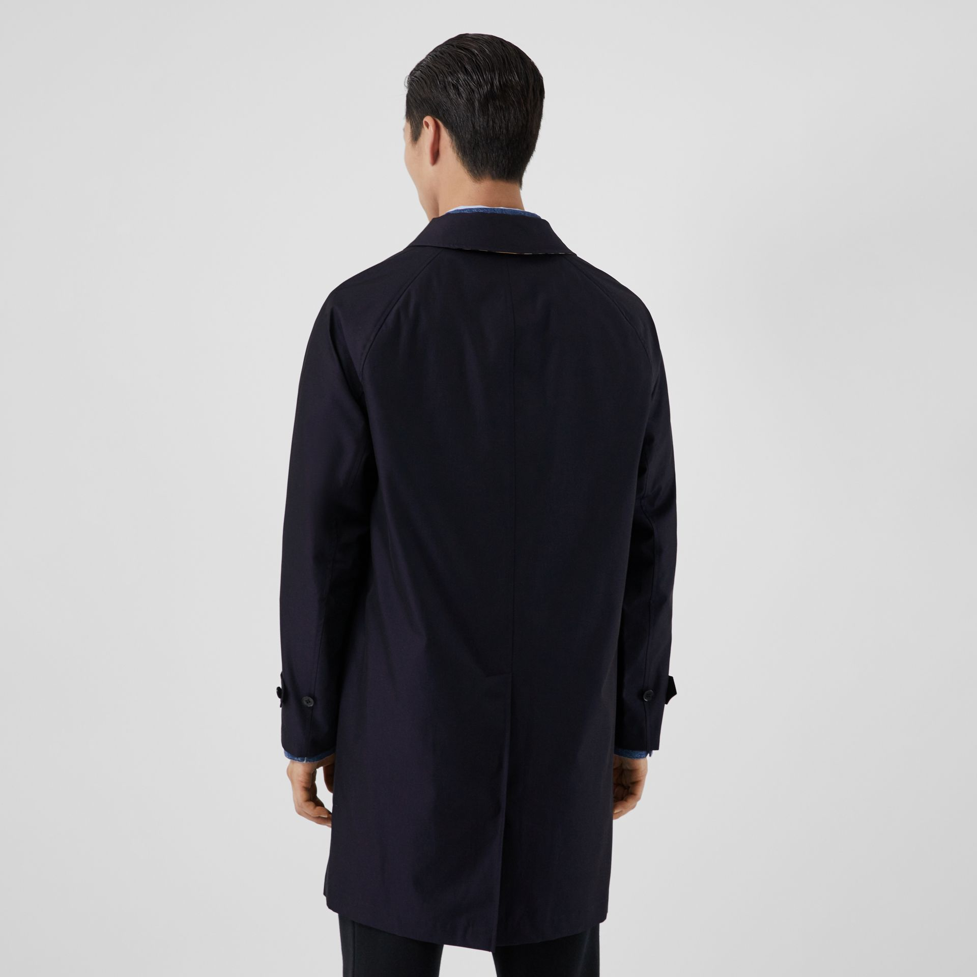 The Camden Car Coat in Blue Carbon - Men | Burberry Australia - gallery image 1
