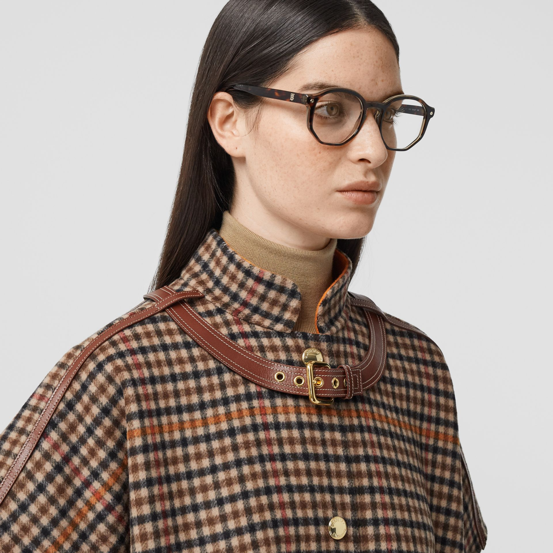 Geometric Optical Frames in Tortoiseshell - Women | Burberry - gallery image 2