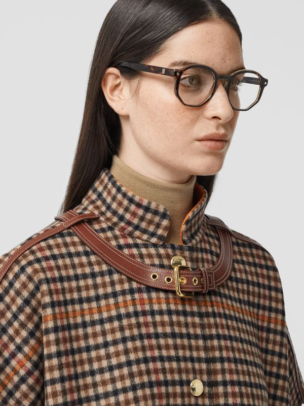 Geometric Optical Frames in Tortoiseshell - Women | Burberry - cell image 2