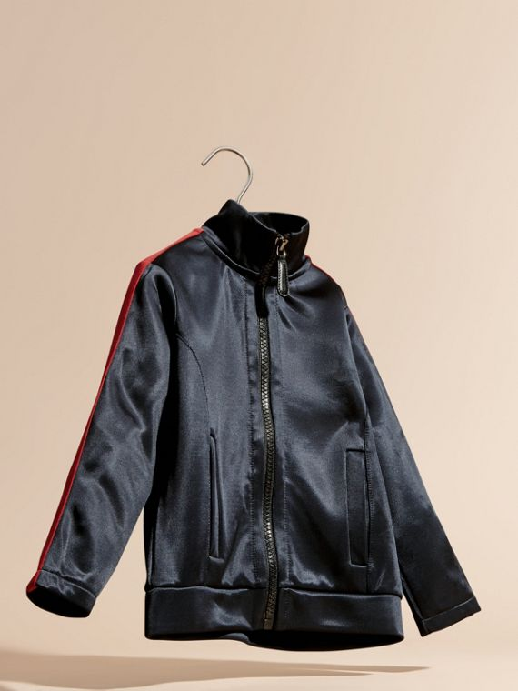 Navy High-shine Technical Track Jacket Navy - cell image 2