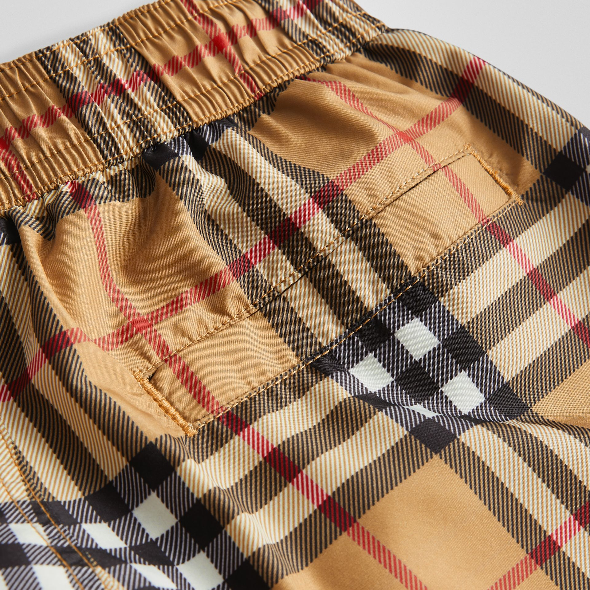 Vintage Check Swim Shorts in Antique Yellow | Burberry United Kingdom - gallery image 1