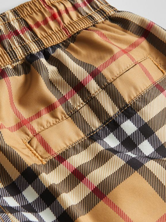 Vintage Check Swim Shorts in Antique Yellow - Boy | Burberry United Kingdom - cell image 1