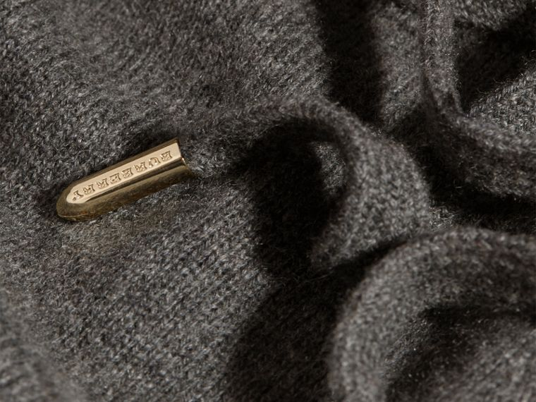 Dark grey melange Knitted Cashmere Cotton Joggers - cell image 1