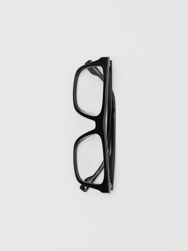 Rectangular Optical Frames in Black - Men | Burberry - cell image 3