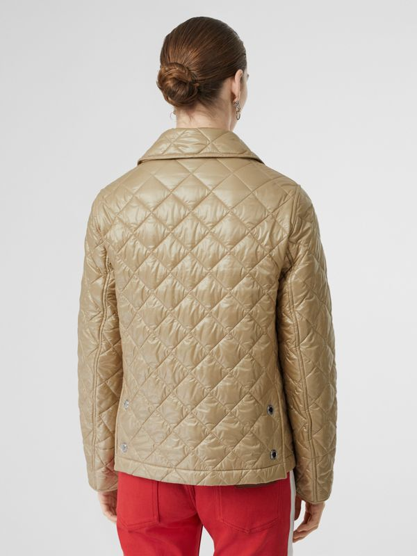 Monogram Motif Diamond Quilted Jacket in Honey - Women | Burberry United States - cell image 2