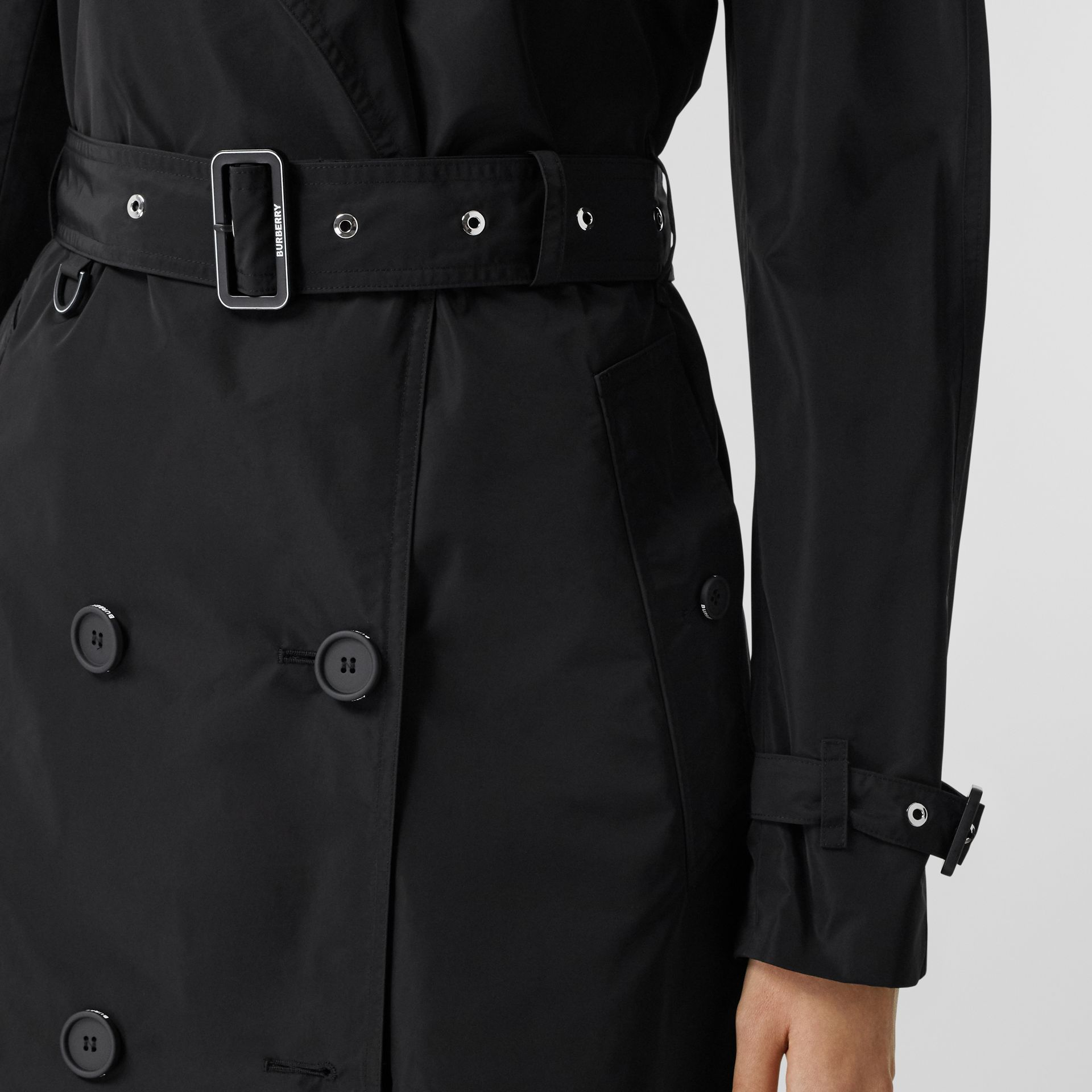 Extra Long Shape-memory Taffeta Trench Coat in Black - Women | Burberry - gallery image 4