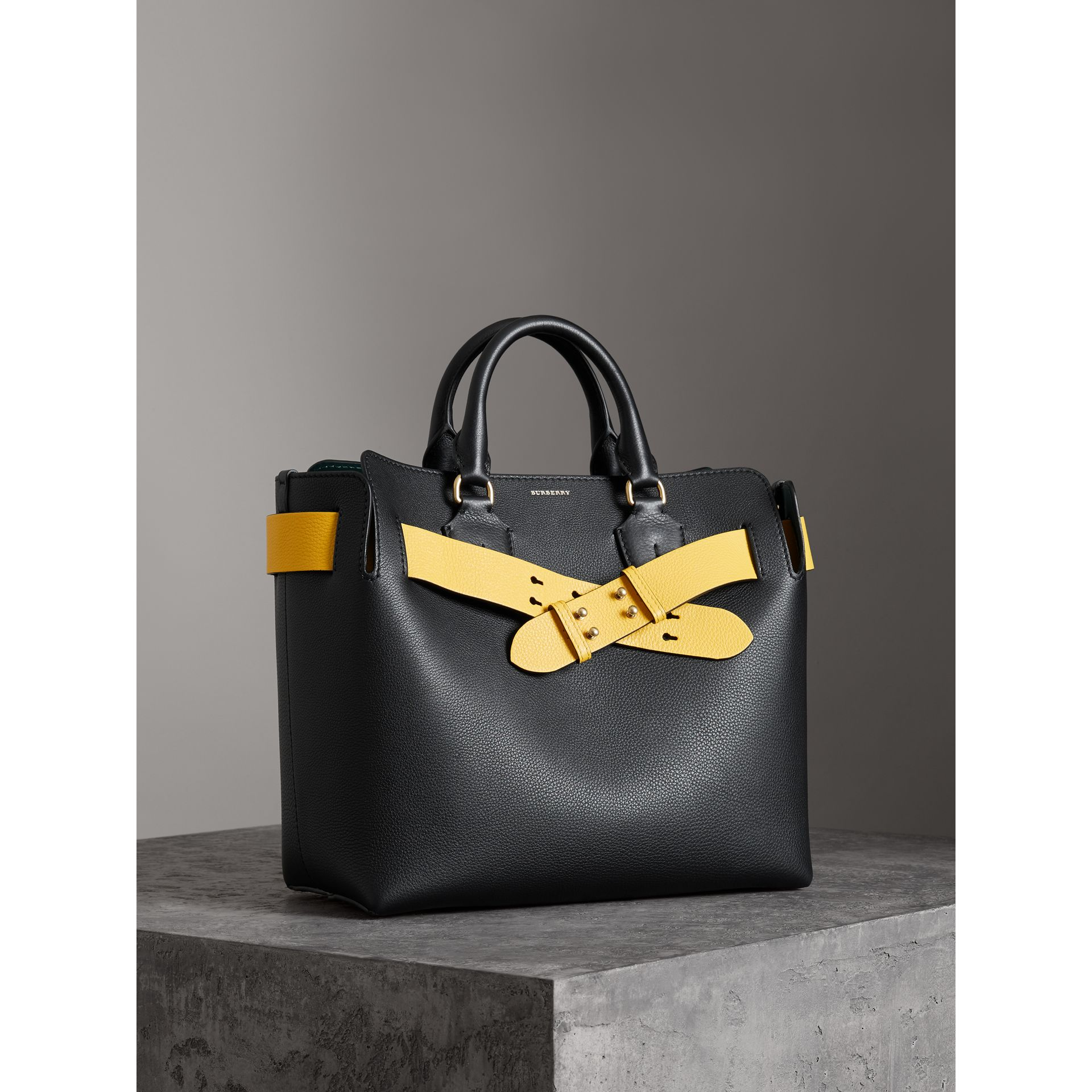 The Medium Leather Belt Bag in Black - Women | Burberry Australia - gallery image 5