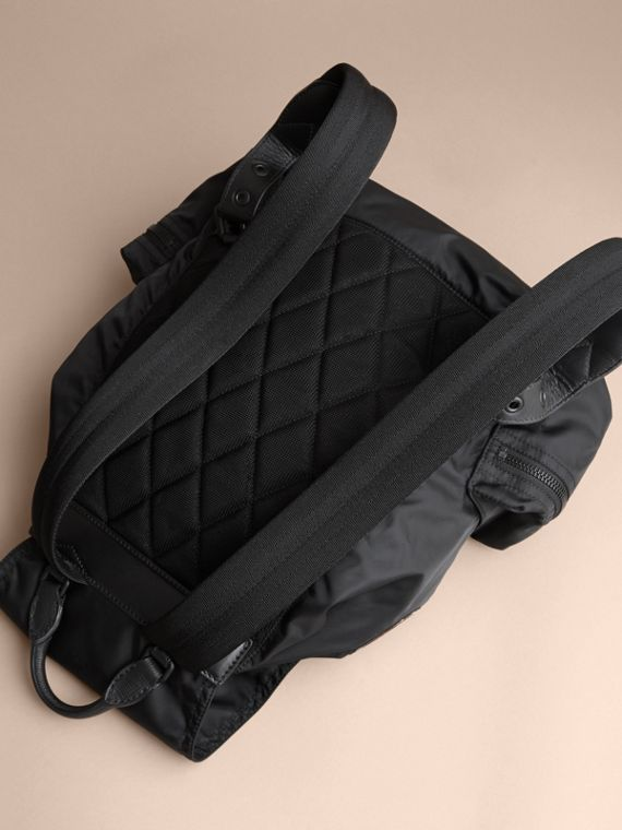 The Large Rucksack in Technical Nylon with Pallas Heads Appliqué - cell image 3