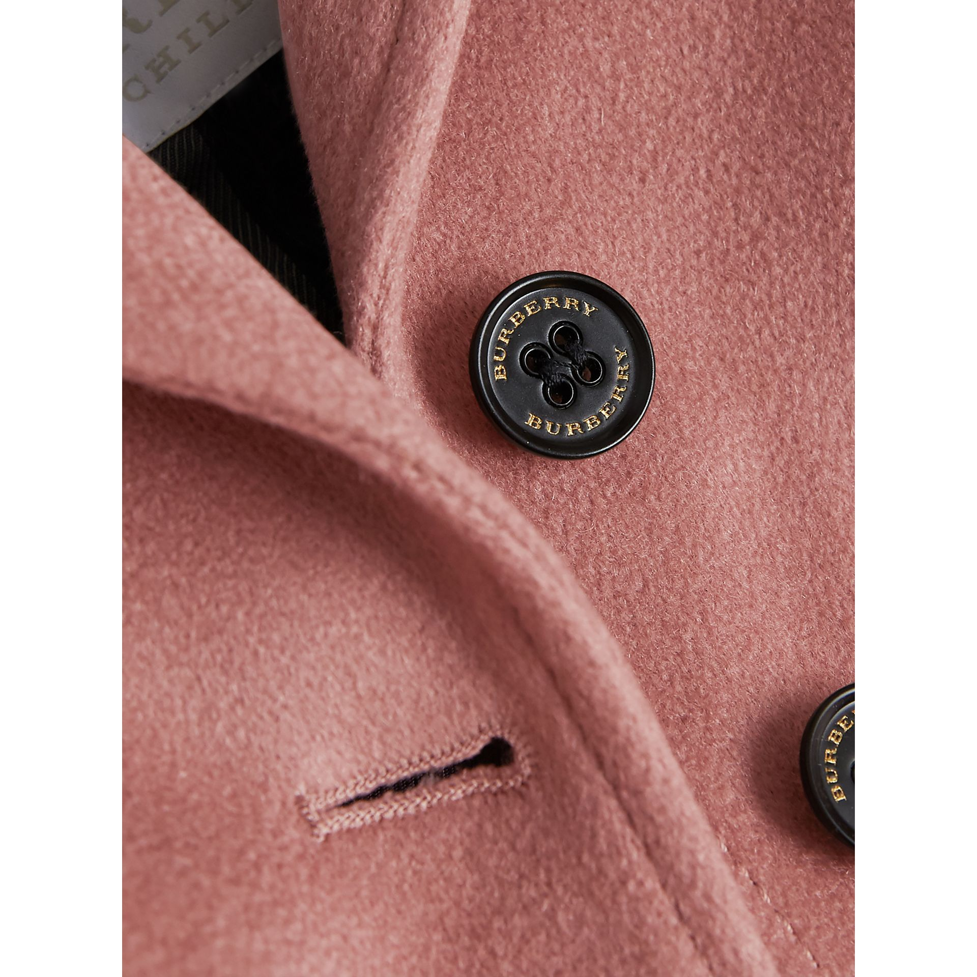 Cashmere Tailored Coat in Antique Rose | Burberry - gallery image 1
