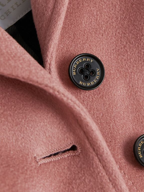 Cashmere Tailored Coat in Antique Rose | Burberry - cell image 1