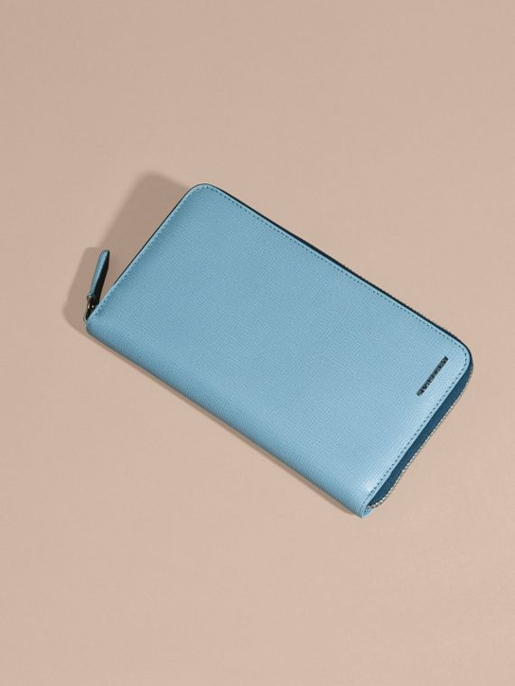 London Leather Ziparound Wallet Powder Blue - cell image 3