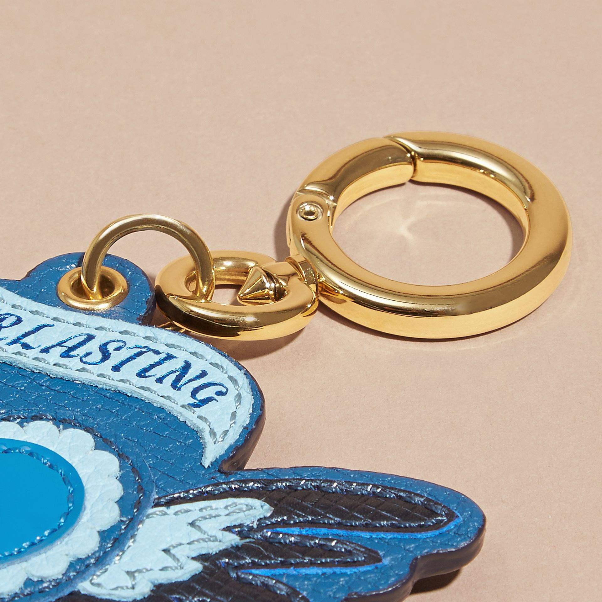Celadon blue Leather Everlasting Love Charm - gallery image 3