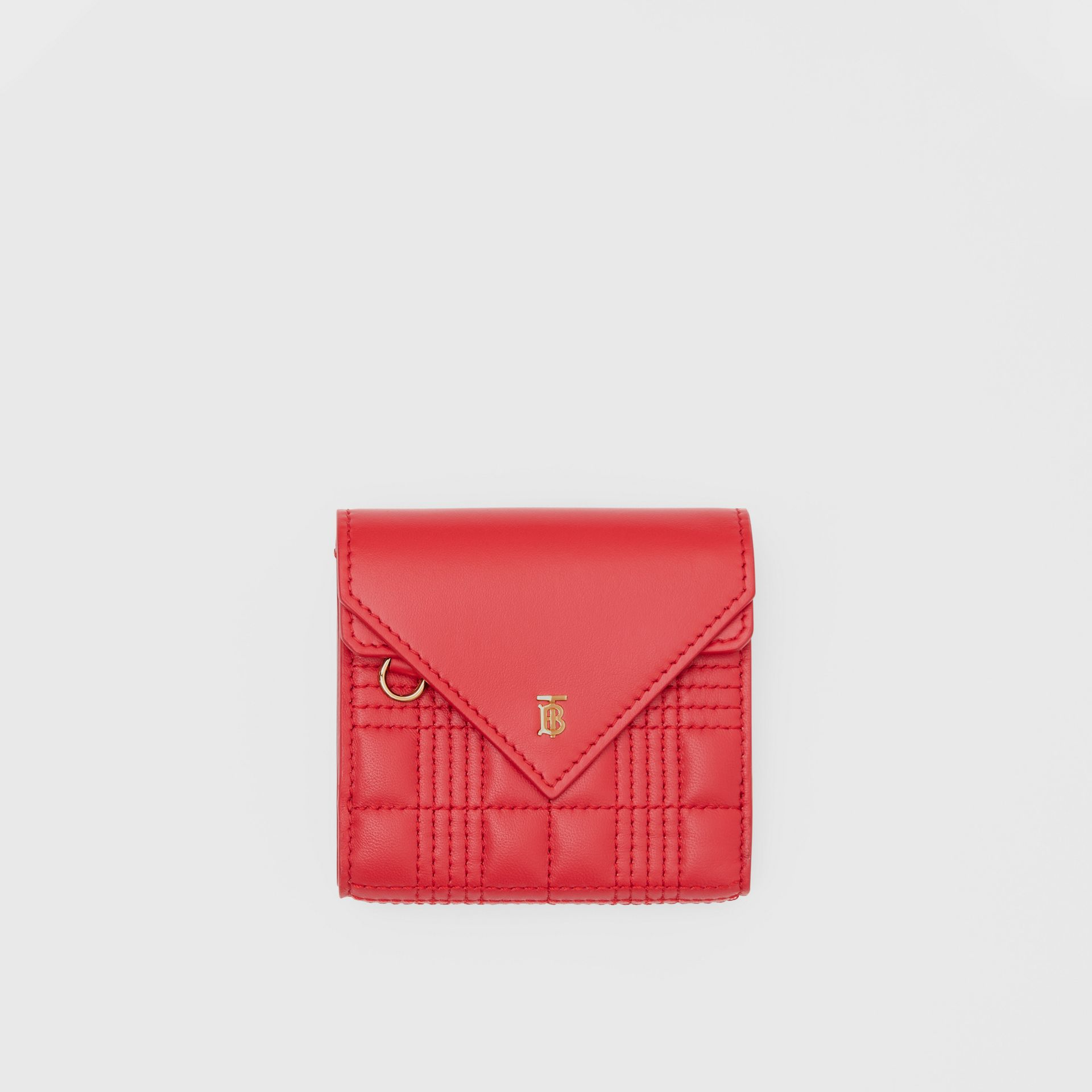 Quilted Lambskin Folding Wallet in Bright Red - Women | Burberry Hong Kong S.A.R - gallery image 0