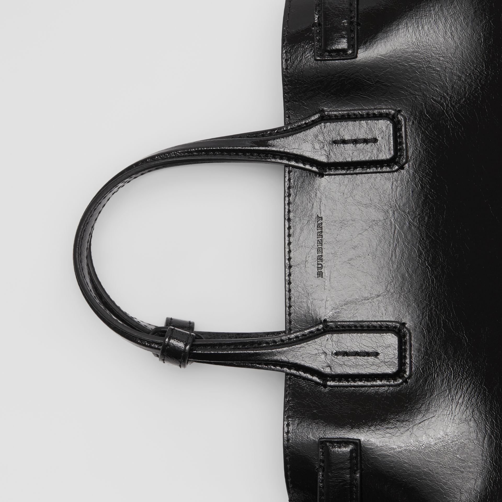 The Small Soft Leather Banner in Black - Women | Burberry - gallery image 1