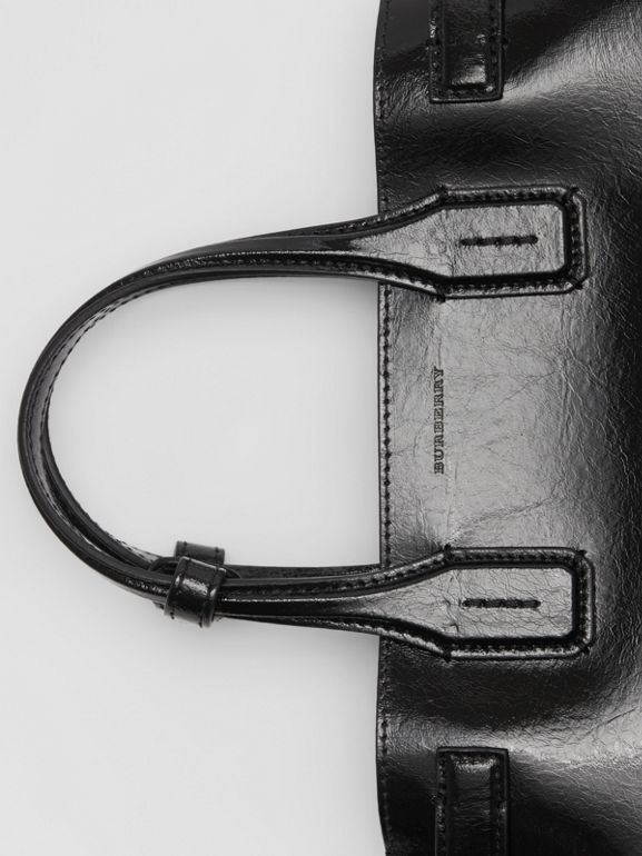 The Small Soft Leather Banner in Black - Women | Burberry United States - cell image 1