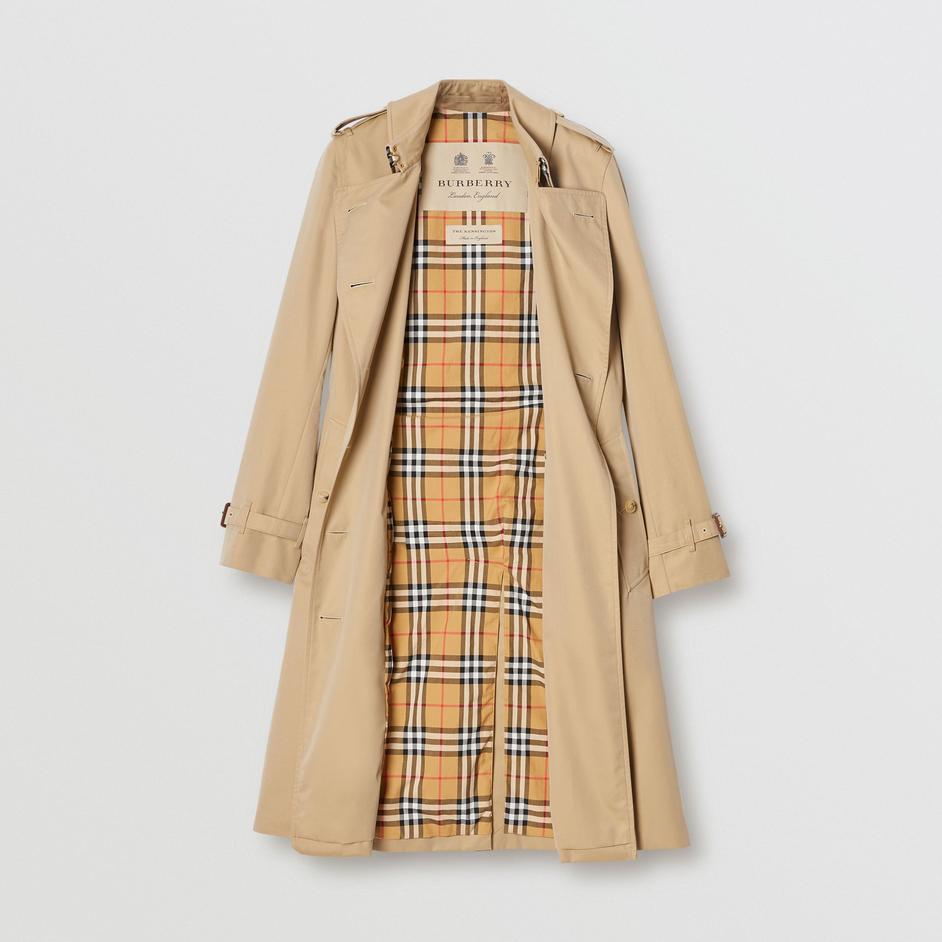 The Long Kensington Heritage Trench Coat in Honey - Women | Burberry United Kingdom - gallery image 3