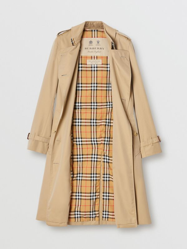 The Long Kensington Heritage Trench Coat in Honey - Women | Burberry United Kingdom - cell image 3