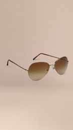 Half-Frame Aviator Sunglasses