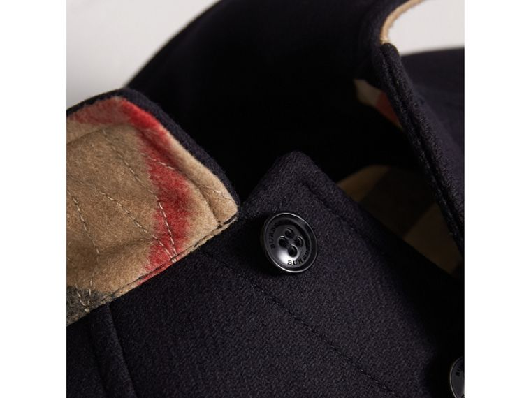 Wool Cashmere Blend Car Coat in Navy | Burberry Australia - cell image 1