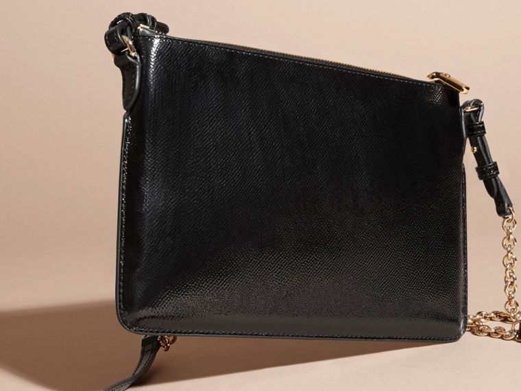 Noir Clutch en cuir London verni Noir - cell image 4