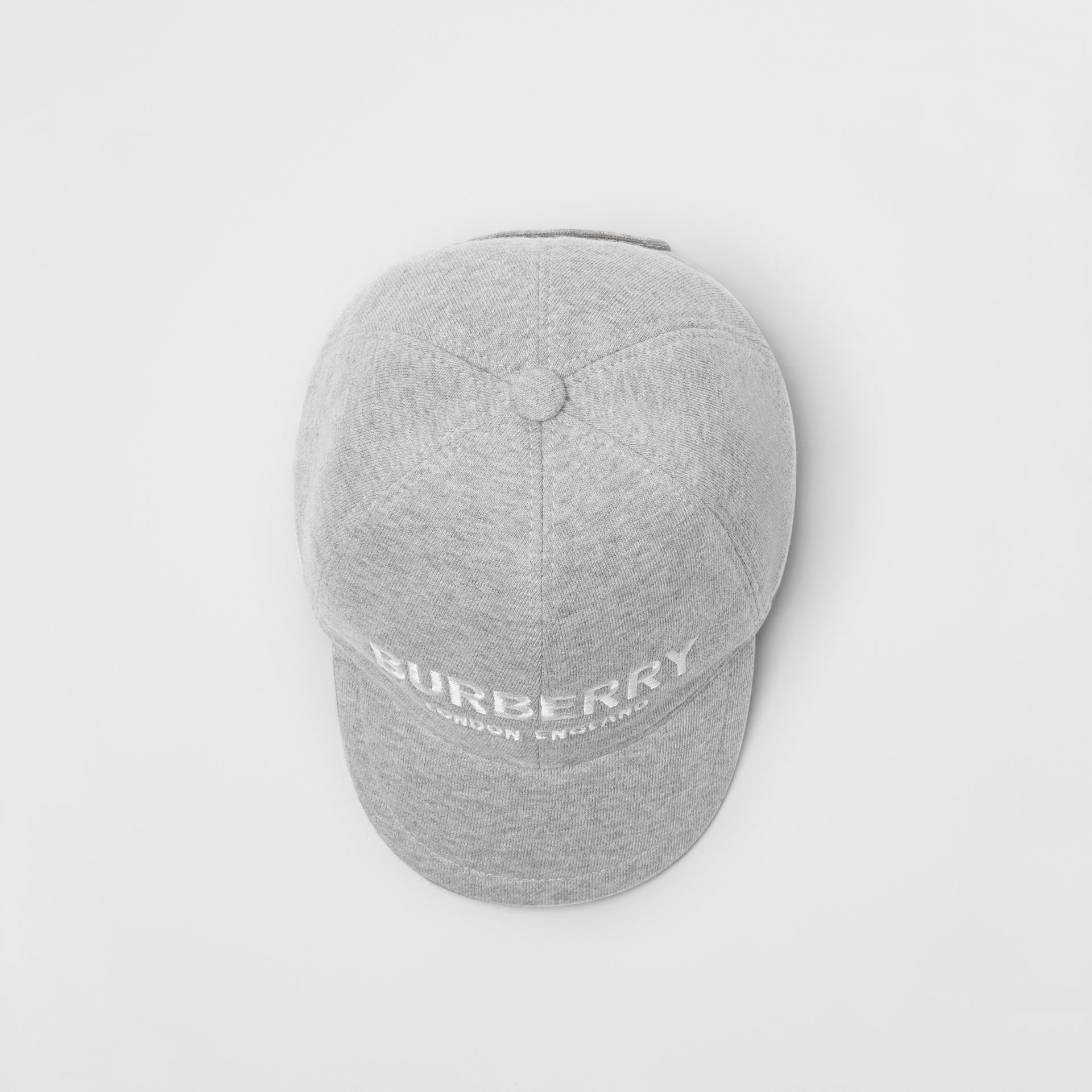 Embroidered Logo Baseball Cap in Light Grey Melange - Children | Burberry Hong Kong - gallery image 3