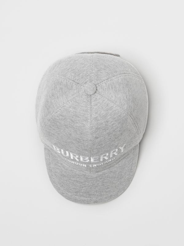 Embroidered Logo Baseball Cap in Light Grey Melange - Children | Burberry United Kingdom - cell image 3
