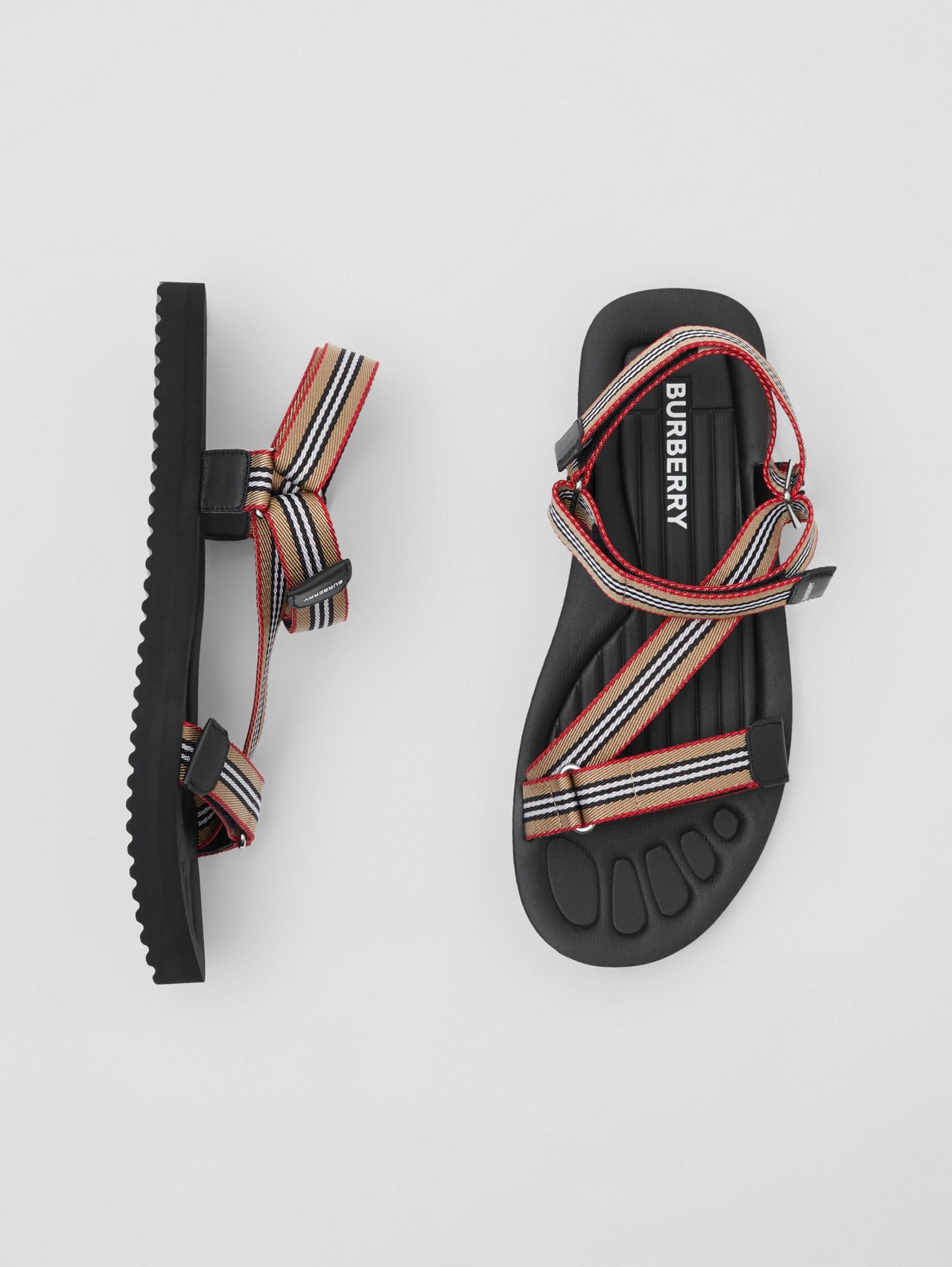 Icon Stripe Sandals (Archive Beige)