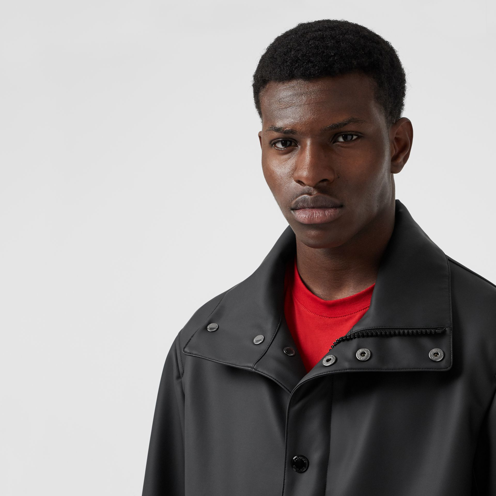 Detachable Hood Showerproof Jacket in Black - Men | Burberry Australia - gallery image 1