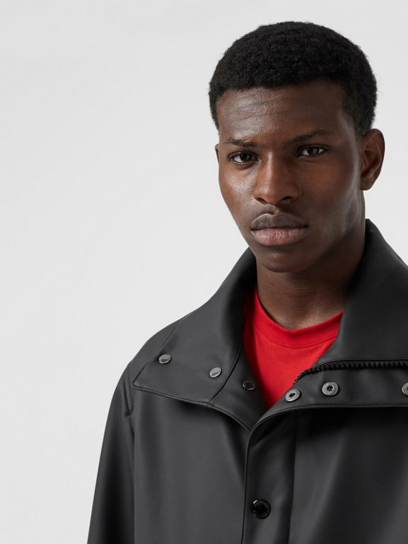 Detachable Hood Showerproof Jacket in Black - Men | Burberry Australia - cell image 1