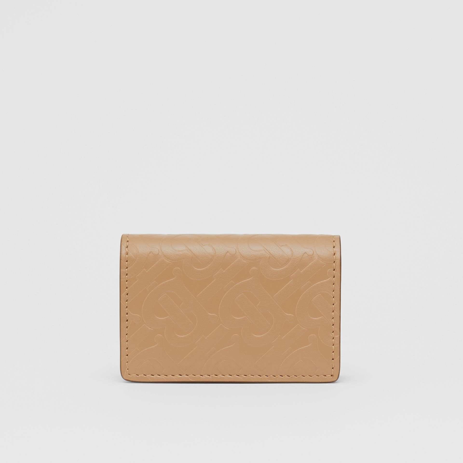 Monogram Leather Card Case in Light Camel | Burberry - gallery image 5