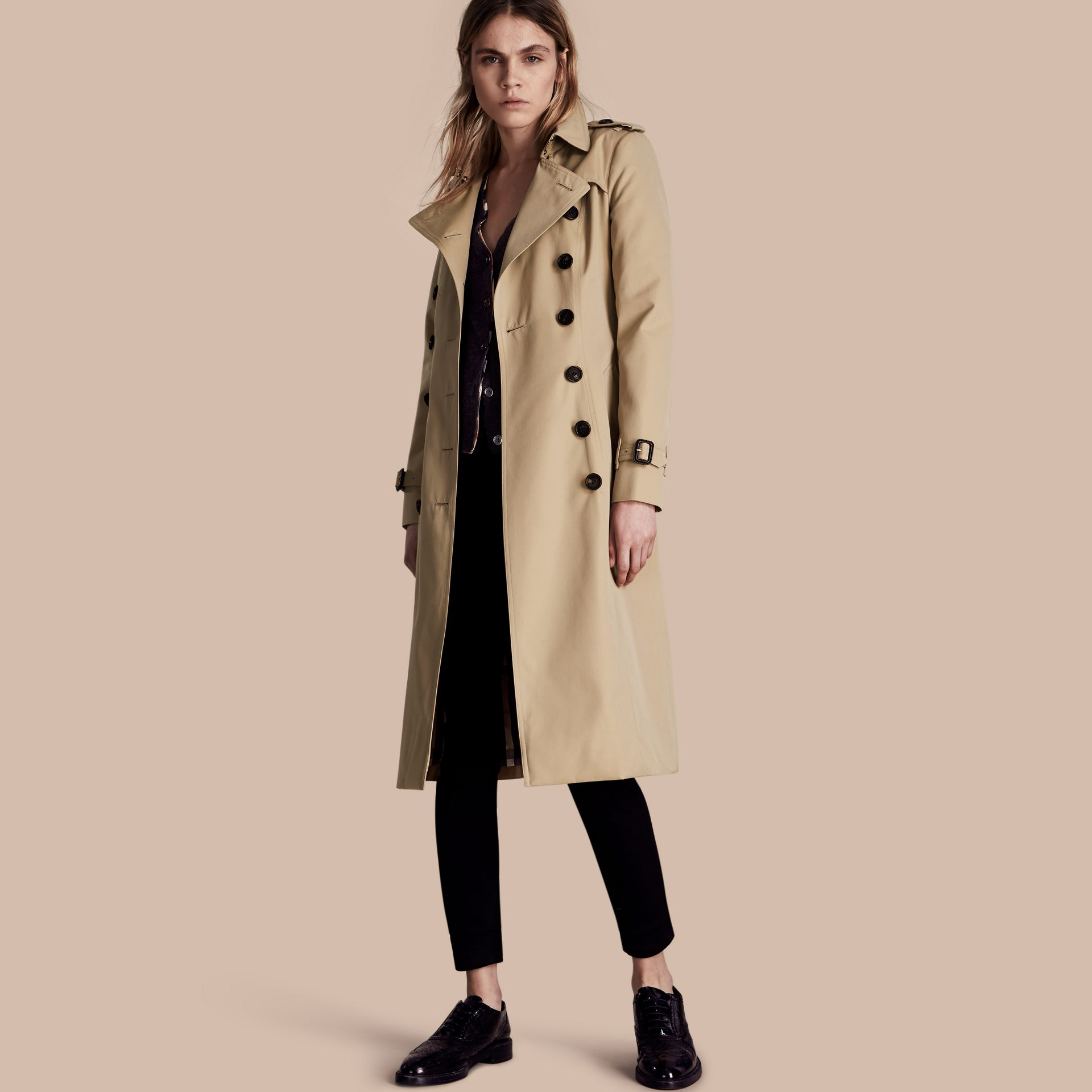 Honey The Chelsea – Extra-long Heritage Trench Coat Honey - gallery image 1