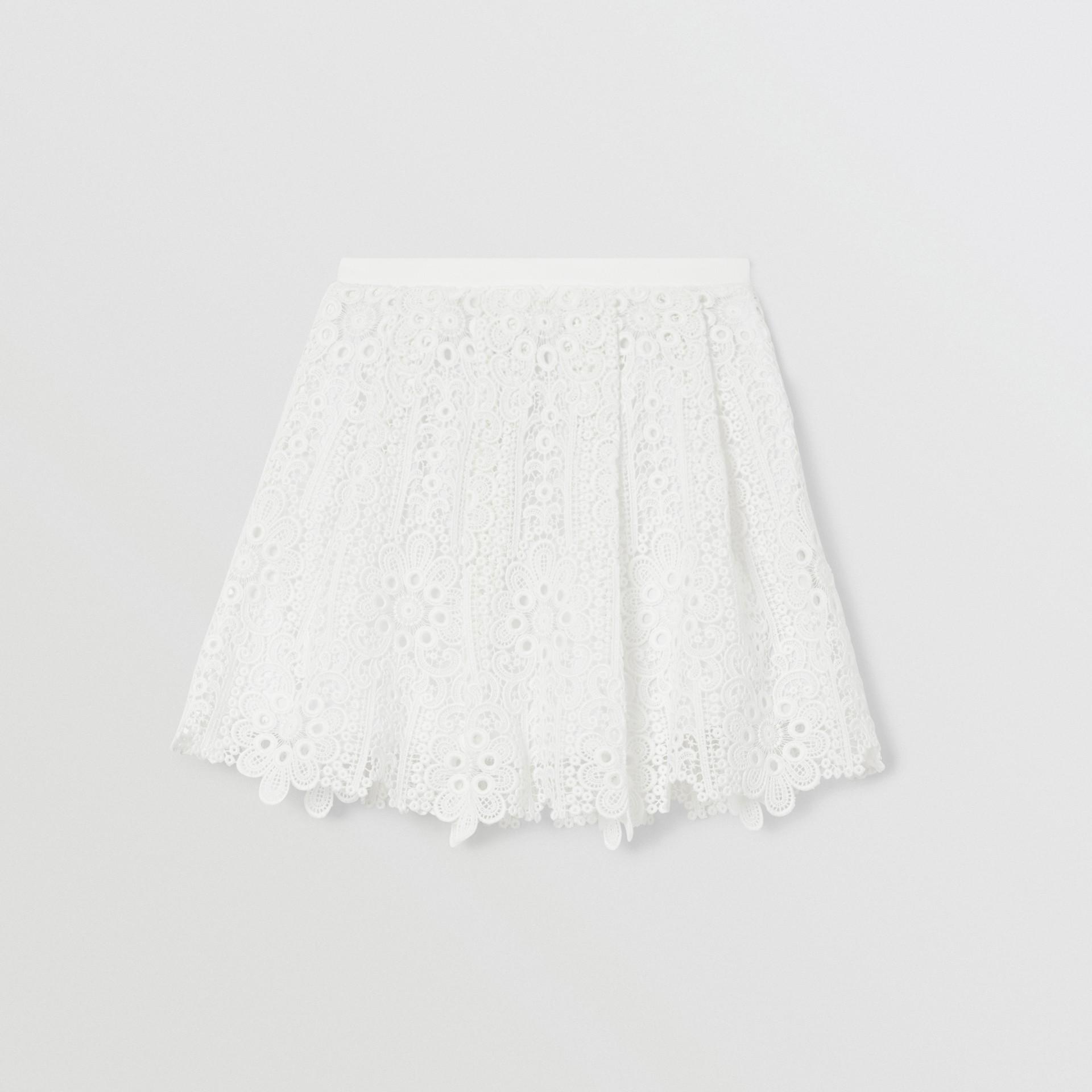 プリーツ マクラメレース スカート (ホワイト) | バーバリー - ギャラリーイメージ 0