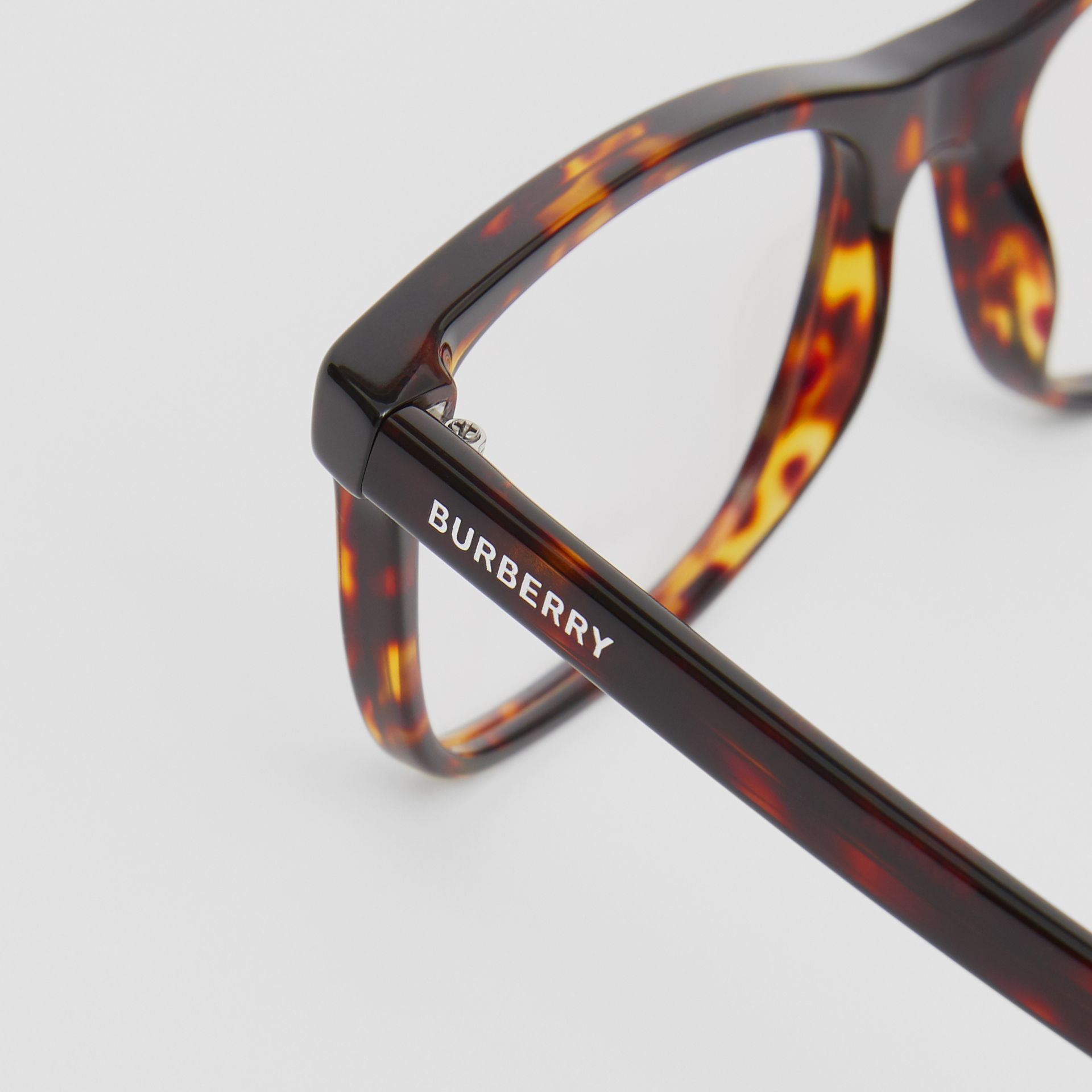Rectangular Optical Frames in Tortoiseshell - Men | Burberry United Kingdom - gallery image 1