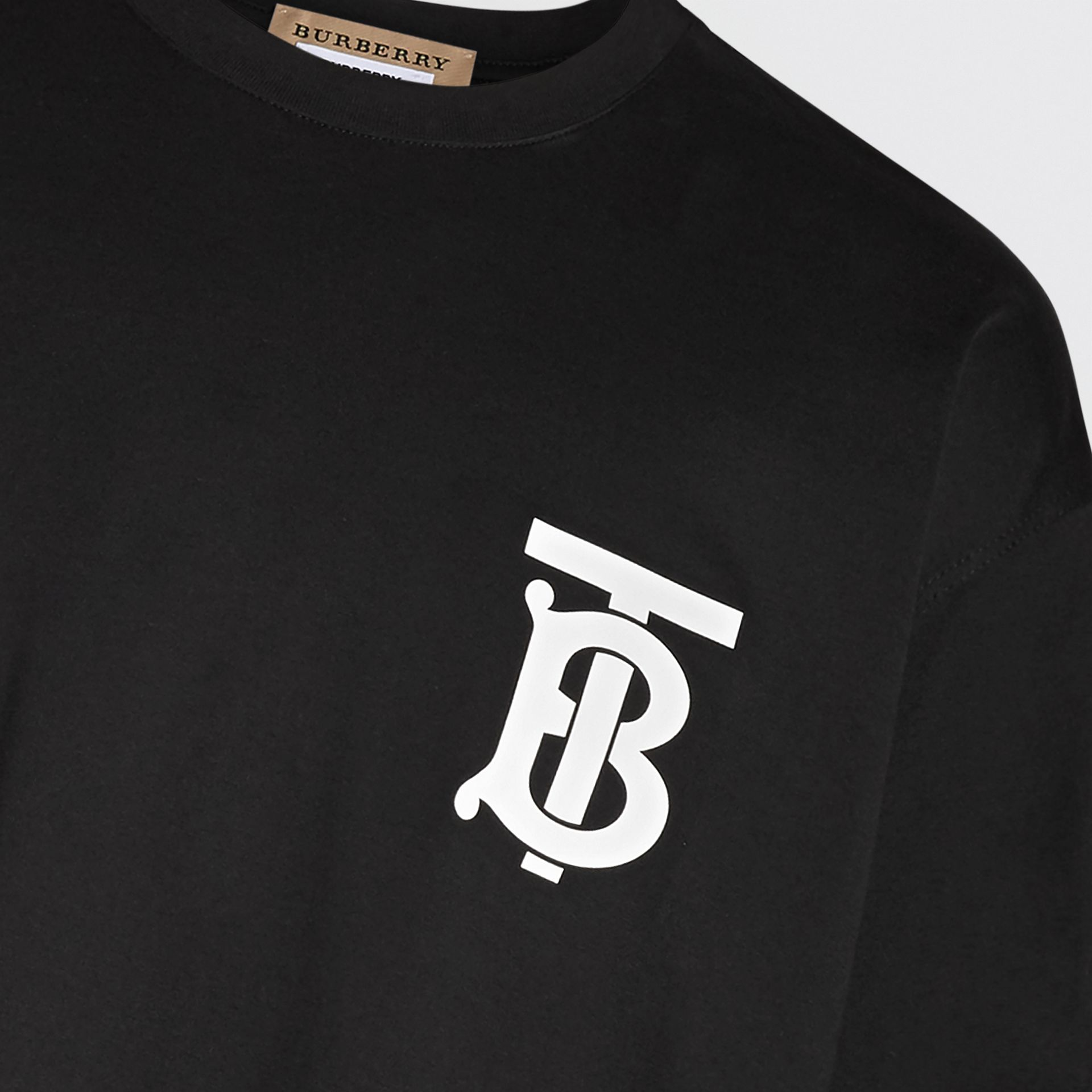 Monogram Motif T-shirt in Black - Men | Burberry - gallery image 1