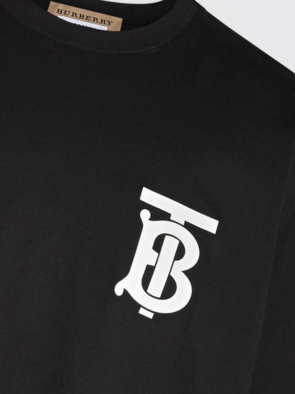 Monogram Motif T-shirt in Black - Men | Burberry - cell image 1