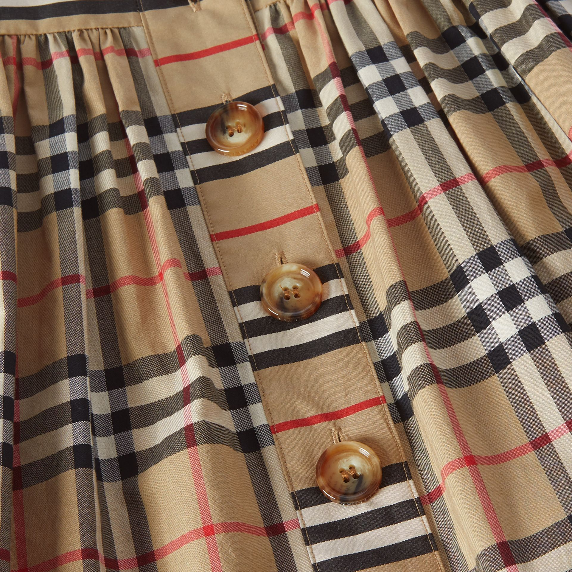 Vintage Check Cotton Dress in Archive Beige | Burberry Australia - gallery image 1