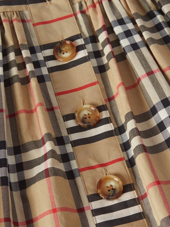 Vintage Check Cotton Dress in Archive Beige | Burberry Australia - cell image 1